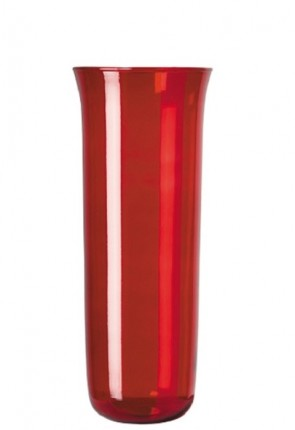 Will & Baumer Ruby, 7-8 Day Glass Sanctuary Candle Globe