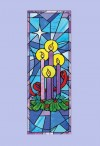 "Celebration Banners Stained Glass Series ""Celebrate Advent"" 2'W X 6'H Worship Banner"