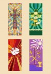 "Celebration Banners Tapestry Series 23""W X 63""H Set Of Four Worship Banners"