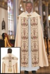 R.J. Toomey Coronation Collection Ivory, Fully-Lined Cope With Inner Stole