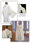 R.J. Toomey Gold Medallion Collection White Cope And Humeral Veil Set