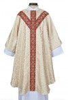 R.J. Toomey Monreale Ivory Semi-Gothic Chasuble With Inner Stole