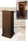 "Robert Smith 44""H Maple Full Lectern With Shelf"