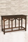 """Robert Smith 54""""W Engraved Maple Communion Table"""