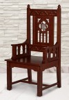 "Robert Smith Florentine Collection 48""H Celebrant Chair"
