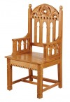 """Robert Smith Gothic Collection 48""""H Celebrant Chair"""