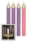 "Sudbury Brass 1-1/2""D Spring Tube Advent Candle Set"