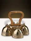 Sudbury Brass Embossed Hand-Held Bell Set With Four Bells